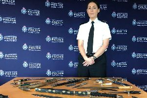 Inspector Donna Lowton, Nottinghamshire Police lead on knife crime, at the knife amnesty earlier this year.