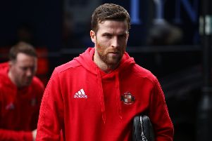 LONDON, ENGLAND - MARCH 10:  Adam Matthews of Sunderland arrives ahead of the Sky Bet Championship match between QPR and Sunderland at Loftus Road on March 10, 2018 in London, England.  (Photo by Jack Thomas/Getty Images)
