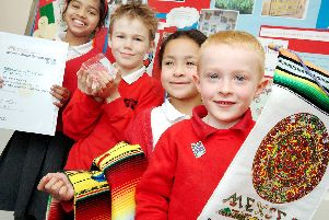 2008: Pupils from Edgewood Primary School are pictured with their International Award and certificate. Spot anyone you know?