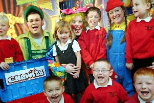 2008: Reception pupils at Beardall Primary School met up with the cast from Chaplins Panto. Did you meet them?