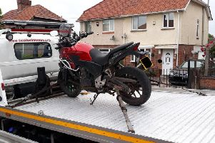 Motorbike recovered by police in Hucknall.