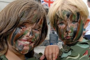 2010: Bulwells Horseshoe Pub held an Armed Forces Day to raise funds for Help For Heroes. Pictured are Tilly Wattam and her brother Finley. Did you attend this event?