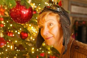 Amelia Earhart is one of the guides at Chatsworth's In A Land Far, Far Away festive spectacular.