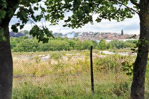One of the earmarked sites, the former Stanton Ironworks, as seen from Lows Lane, looking towards Ilkeston.