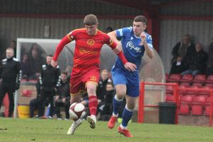Alex Marshall in action against Stamford last weekend. Photo by Lee Prewett.