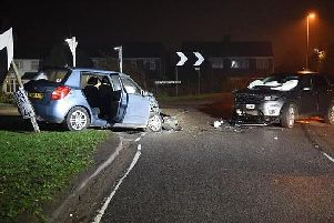 The aftermath of the smash. (Photo: Northamptonshire Police).