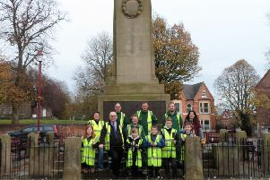 Pupils from Chaucer Junior School help Erewash Borough Council with planting at Ilkeston's Cenotaph ahead of Remembrance Sunday.