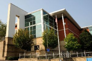 Pictured is Chesterfield magistrates' court.