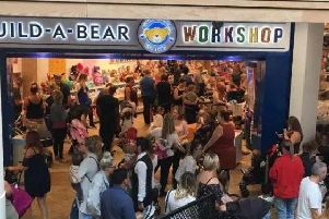 There have been huge queues at Build A Bear stores across the country