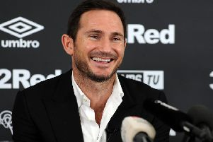 Frank Lampard unveiled as the new Derby County manager, at press conference on Thursday.
