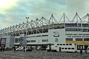 21 February 2018......  Derby County v Leeds United 'Pride Park.  Picture Tony Johnson.