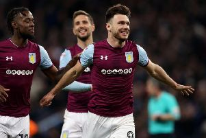Aston Villa's Scott Hogan.