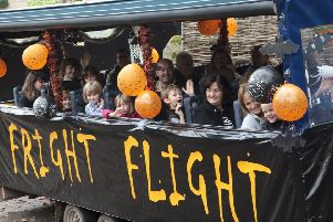 The Fright Flight is ready to take off at Chatsworth