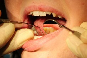 General view of dentist at work.