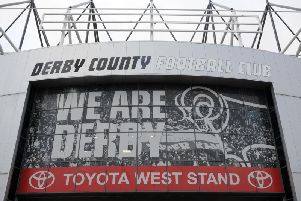 The Rams are in action at Pride Park today.