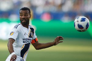 Ashley Cole in action for LA Galaxy.