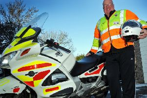 Ken Shaw and his Blood bike.