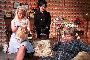Anna Mitcham, Susie Hawthorne and Susan Earnshaw in The Killing of Sister George.