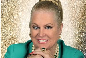 Kim Woodburn at the Pomegranate Theatre, Chesterfield, on February 14.