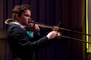 Rising brass star Sam Dye is guest soloist at Nottingham Philharmonic Orchestra's concert