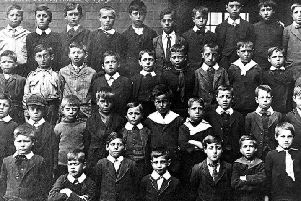A class of boys at Chaucer School, Ilkeston, way back in 1909.
