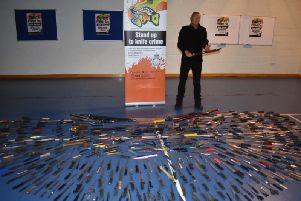 More than 500 knives have been handed in.