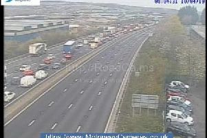 Scene on the M1,  Credit: www.MotorwayCameras.co.uk