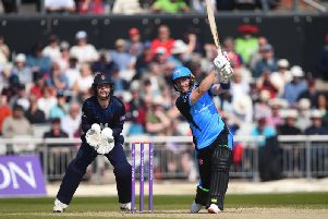 Riki Wessels played a key role in Derbyshire's defeat.