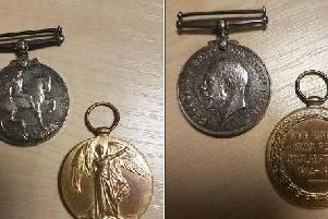 The medals which were found on Repton Drive.