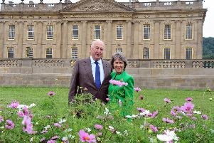 Duke and Duchess of Devonshire at Chatsworth Flower Show 2018.