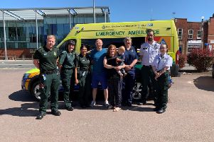 East Midlands Ambulance Service this week reunited baby Tommy in an emotional but very happy reunion with the team which saved his life back in January.