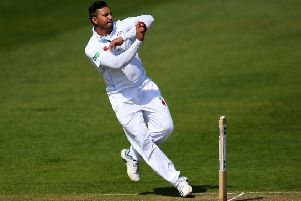 Ravi Rampaul in action for Derbyshire (PHOTO BY: Harry Trump/Getty Images).