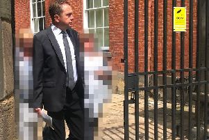 Ex-teacher Mark Fidler leaving Southern Derbyshire Magistrates' Court after pleading guilty. Photo: Derbyshire Live