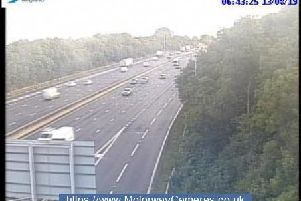 Junction 32 of the M1 southbound.