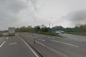There is congestion on the slip road to the M1