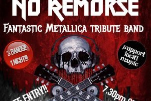 Metallica tribute band No Remorse to appear at charity gig in Ripley later this year