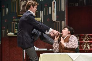Laughs galore in riotous comedy One Man, Two Guvnors at Derby Theatre