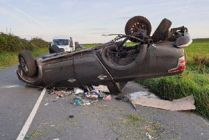 The crash on the A588.