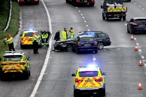 The crash involved a Ford Mondeo Estate and a Nissan Avensis