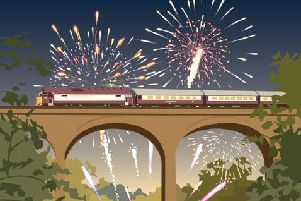 Watch a fireworks display from Arnside Viaduct