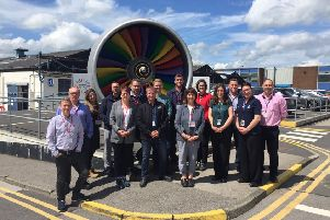 A recent cohort on a visit to Rolls Royce.