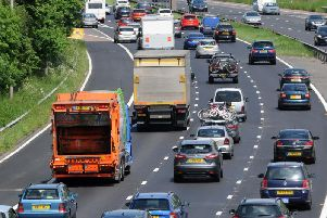 The M6 at junction 35, pictured previously