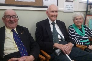 Leslie Morgan, Dr Malcolm Brown and Audrey Brown at the Rainbow Centre's 50th birthday celebrations.