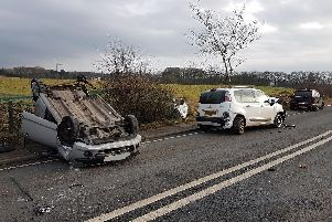 The A6 was closed after a serious collision.'Photo: Lancs Roads Police