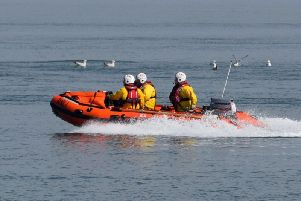 The RNLI craft on a previous mission