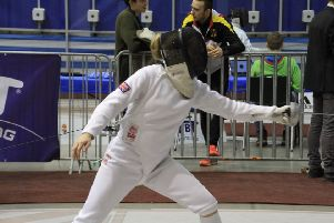 Georgia Hannam in action at the World Cup in Cairo for GB Pentathlon.