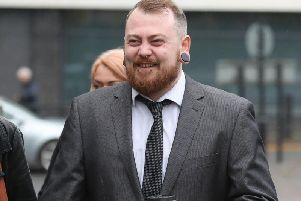 Mark Meechan who was fined 800 for filming a pet dog giving Nazi salutes and posting the footage online. Photo credit: Andrew Milligan/PA Wire