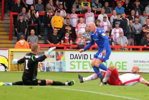 Kevin Ellison snatched a point for Morecambe last weekend