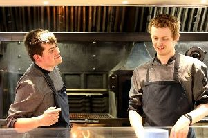 Culinary Academy Matt Lemm (left) hard at work in the kitchen with Ashley Brannigan.jpg