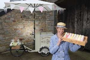 Farmer's wife Amy Rigby has brought back to life an ice cream bike and cart from yesteryear and will be serving at events and weddings across Lancashire